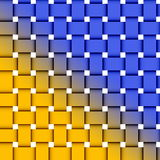 Yellow and blue background. Yellow and blue weaved background Stock Photography