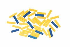 Yellow and blue beads. Stock Image