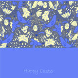 Yellow and blue bird on card Royalty Free Stock Photo