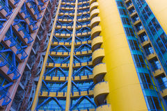 Yellow and  blue building Royalty Free Stock Image