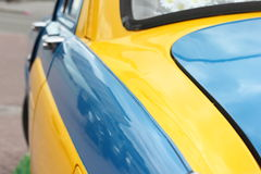 Yellow-blue car Royalty Free Stock Photography