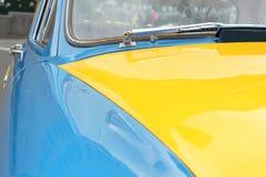 Yellow-blue car Royalty Free Stock Photo
