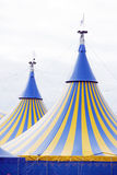 Yellow and Blue Circus Tent royalty free stock image