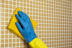 Yellow and blue cloth Royalty Free Stock Photography