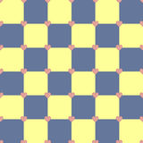Yellow and blue color hearts pattern. Yellow and blue colors seamless vector pattern with pink hearts Royalty Free Stock Photography