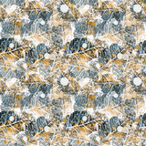 Yellow and blue color on  pattern Royalty Free Stock Photo
