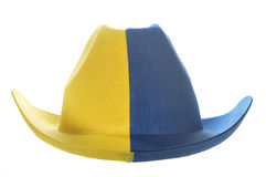 Yellow-blue cowboy hat Stock Photos