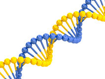 Yellow blue DNA molecule Stock Photo