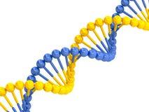 Yellow blue DNA molecule Stock Photo