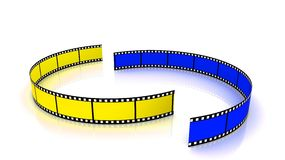 Yellow and blue film arc Stock Image