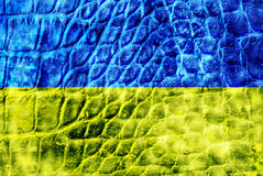 Yellow-blue flag of Ukraine Royalty Free Stock Photos