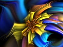 Yellow & Blue Flower Royalty Free Stock Photography