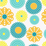 Yellow and blue flowers Royalty Free Stock Images