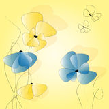 yellow and blue flowers Royalty Free Stock Photo