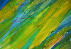 Yellow blue green phosphorescent muddy contrasts, paint watercolor creative background stock photography