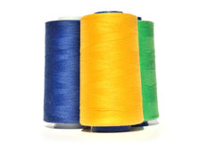 Yellow, blue and green thread Royalty Free Stock Image