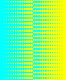 Yellow-blue halftone background Stock Photos
