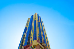 Yellow Blue High Rise Building Stock Image
