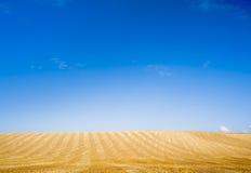 Yellow blue horizon Royalty Free Stock Photo