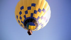 Yellow-blue Hot Air Balloon stock footage