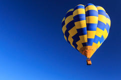 Yellow and Blue hot air balloons in the sky. Stock Photography