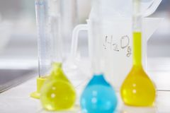 Chemical liquids royalty free stock image