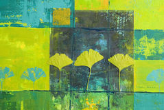Yellow and blue painting Royalty Free Stock Images