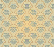 Yellow and blue pattern Stock Photography