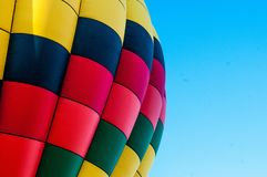 Yellow Blue Pink and Green Air Balloon Stock Image