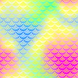 Yellow blue pink mermaid skin  seamless pattern. Iridescent background. Fish scale pattern. Fishscale pattern swatch. Holographic gradient. Mermaid skin Royalty Free Stock Images
