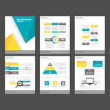 Yellow BLue polygon infographic element and icon presentation templates flat design set for brochure flyer leaflet website Royalty Free Stock Image