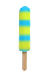 Yellow and blue popsicle Royalty Free Stock Photos