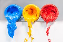 yellow blue and red colors are primary color. Stock Images