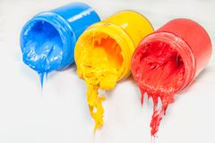 yellow blue and red colors are primary color. Stock Image