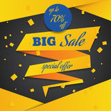 Yellow blue sale banner template design eps 10 Stock Photo