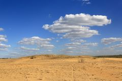 Yellow and blue in sandy desert. Yellow and blue colors of sandy desert Royalty Free Stock Image