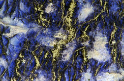 Yellow and blue serpentinite texture closeup Royalty Free Stock Photos