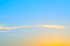 Yellow , blue sky. Yellow sun rays in the blue sky Royalty Free Stock Images