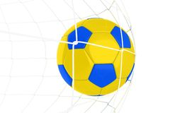 Yellow Blue Soccer Ball Royalty Free Stock Photo