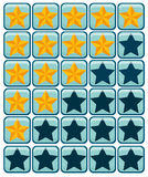 Yellow and blue star buttons Royalty Free Stock Photos