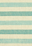 Yellow and blue striped fabric texture Stock Photo