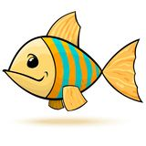 Yellow blue striped fish Stock Photography