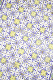 Yellow and blue tiles Stock Photography