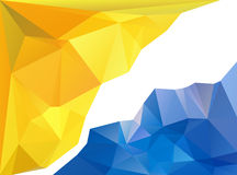 Yellow and blue triangle background Royalty Free Stock Photos