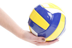 YELLOW-Blue-White Ball Royalty Free Stock Images