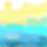Yellow blue white texture with polka dot Royalty Free Stock Image