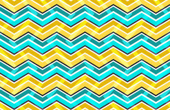 Yellow and blue zig zag seamless pattern. Vector illustration Royalty Free Stock Images
