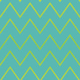 Yellow and Blue Zigzag pattern Stock Photography