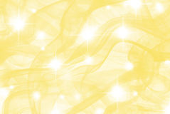 Yellow blur with stars Stock Photography