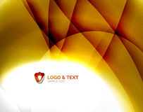 Yellow blur wave abstraction Stock Photos